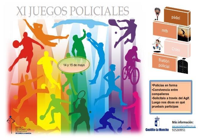 INFORMACION JUEGOS DEPORTIVOS POLICIA LOCAL CLM 2016 CARTEL