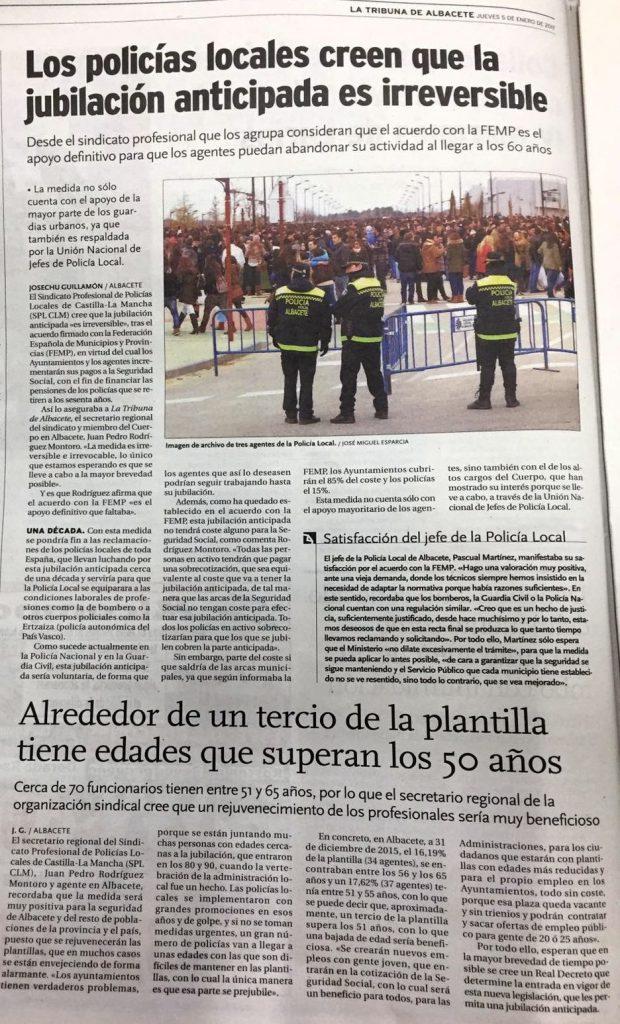 LA TRIBUNA DE ALBACETE 05 ENERO 2017